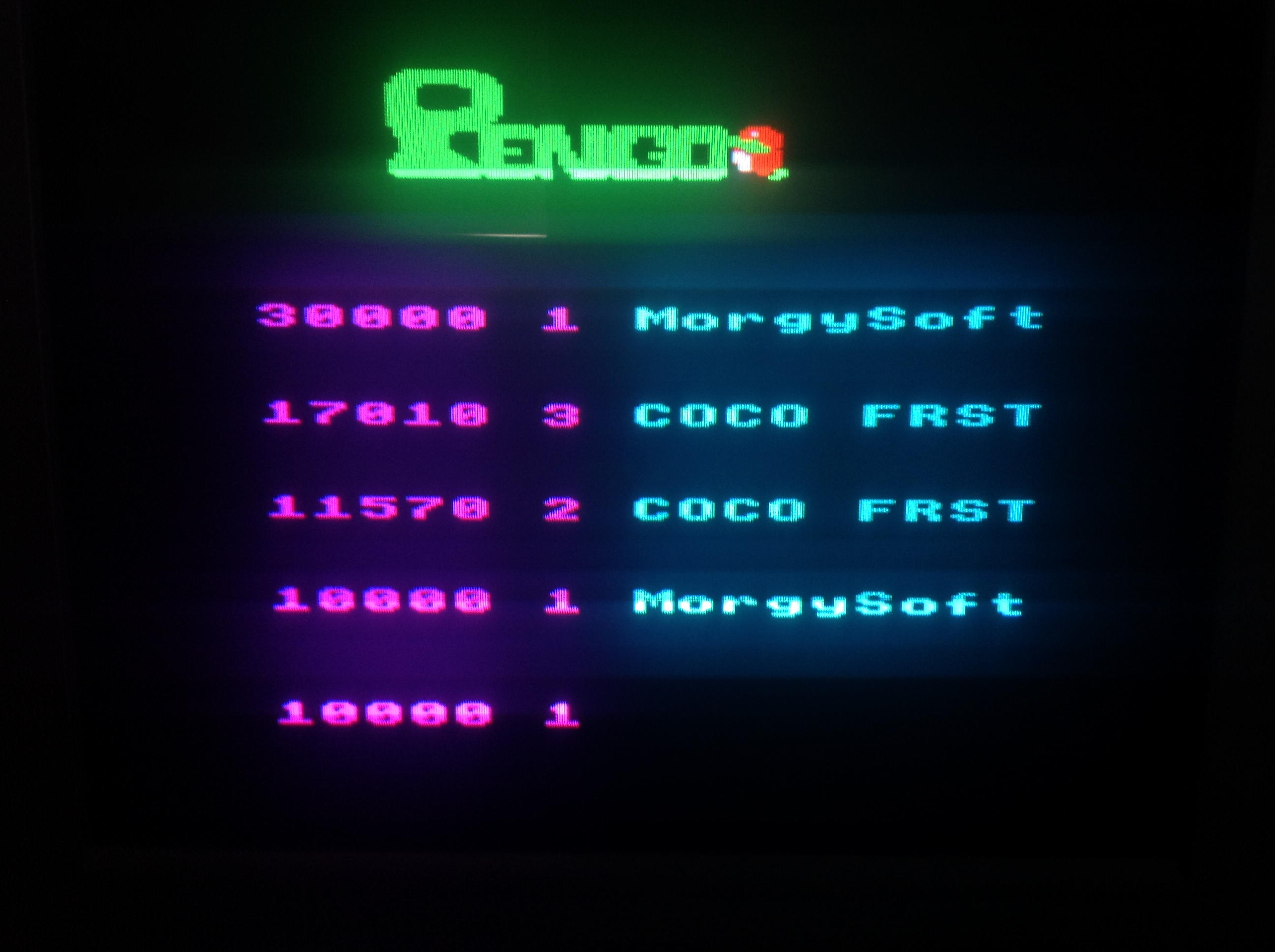 CoCoForest: Pengo (BBC Micro) 17,010 points on 2018-06-30 07:55:03