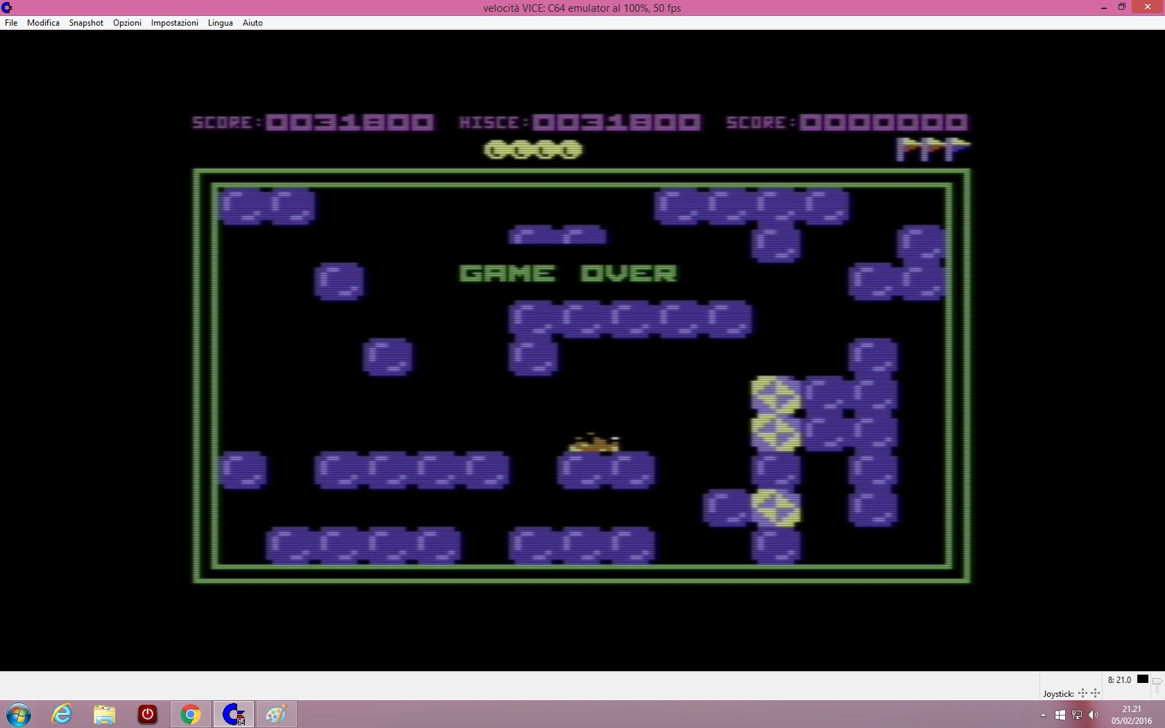 lenny2571: Pengo (Commodore 64 Emulated) 31,800 points on 2016-02-05 14:22:38