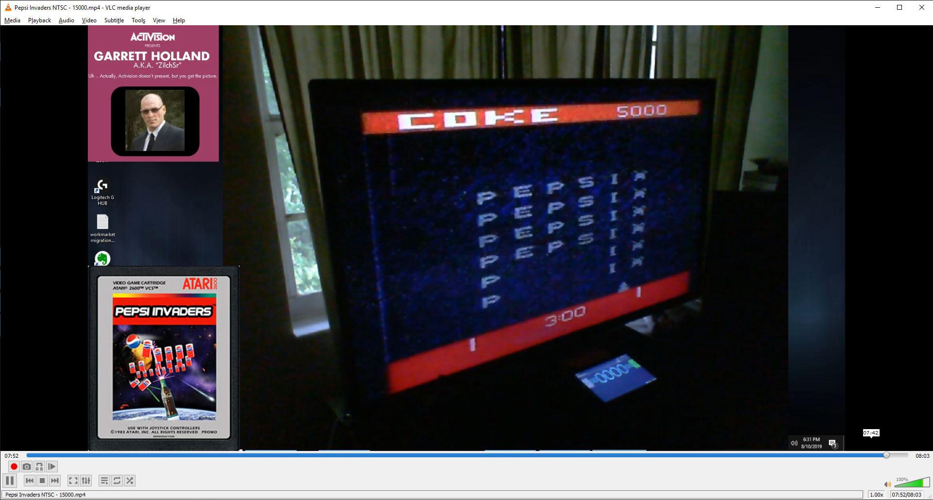 ZilchSr: Pepsi Invaders / Coke Wins (Atari 2600) 15,000 points on 2019-08-10 17:40:22