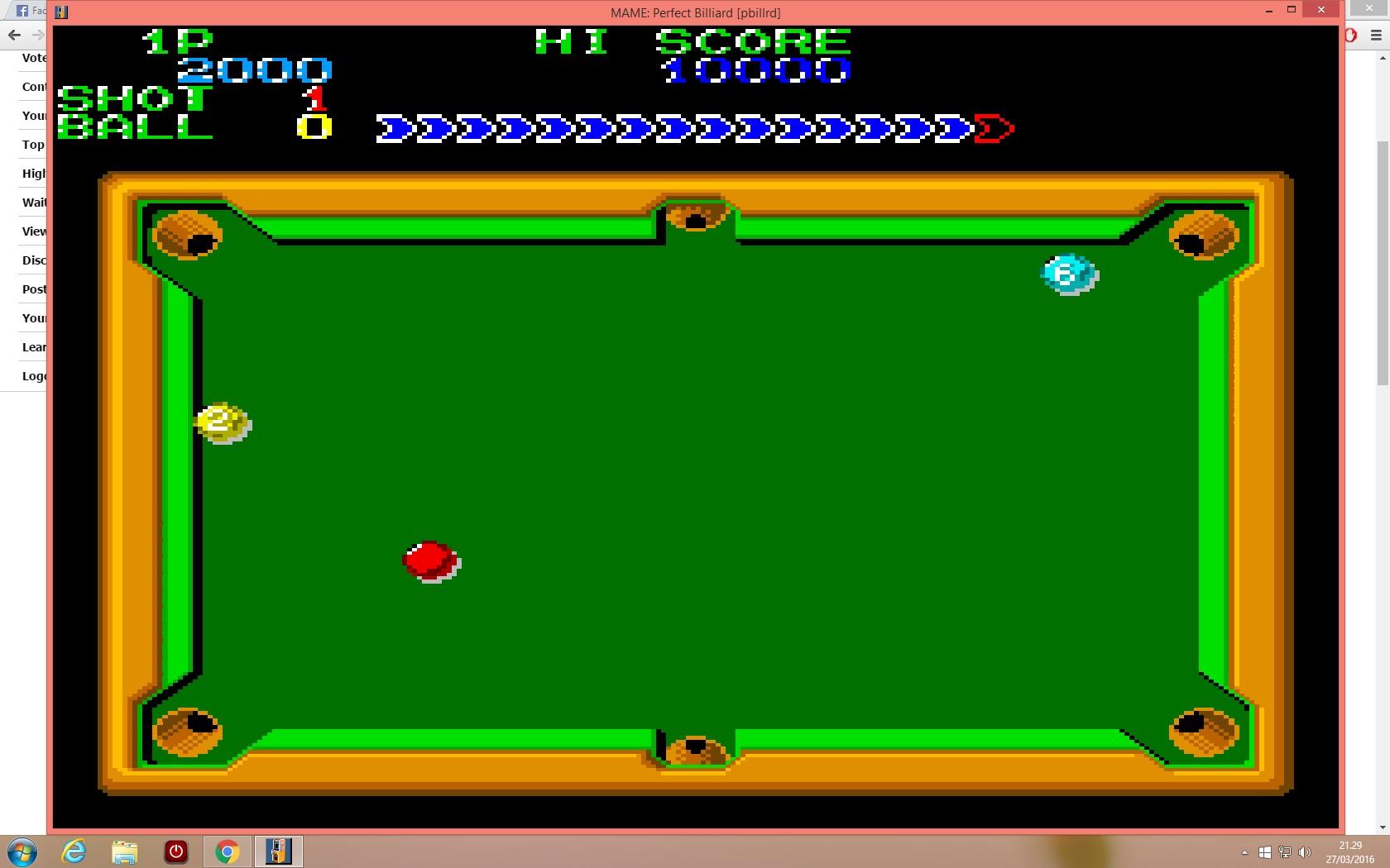 lenny2571: Perfect Billiard (Arcade Emulated / M.A.M.E.) 2,000 points on 2016-03-27 14:30:04