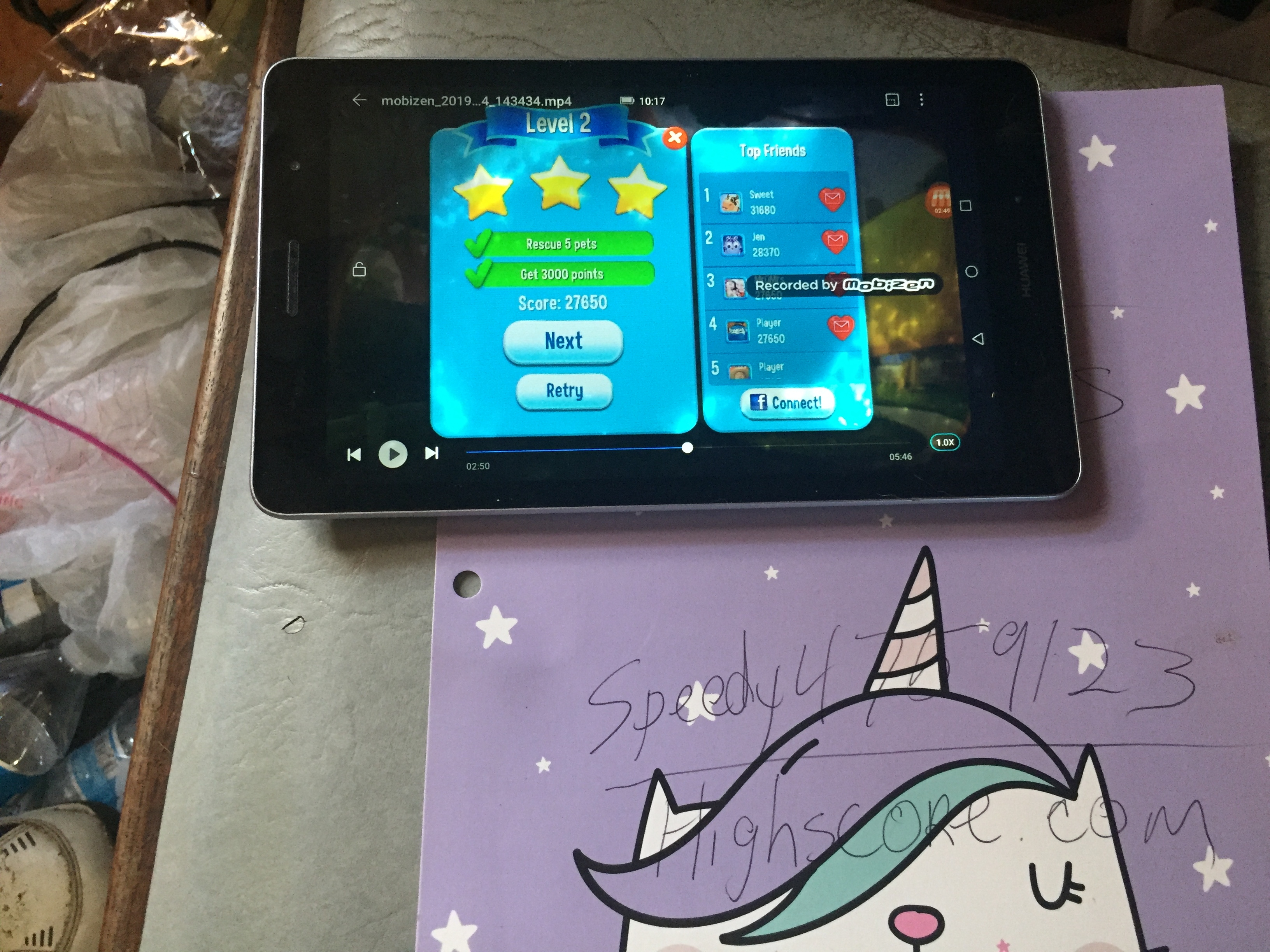 speedy4759123: Pet Rescue Saga: Level 002 (Android) 27,650 points on 2019-09-06 09:32:44