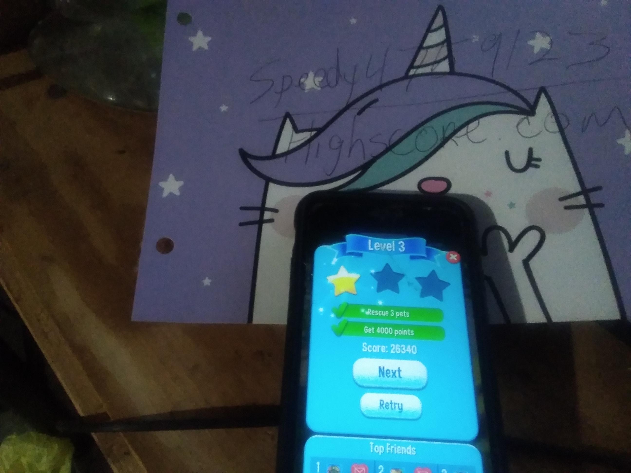 speedy4759123: Pet Rescue Saga: Level 003 (iOS) 26,340 points on 2019-09-04 10:41:54