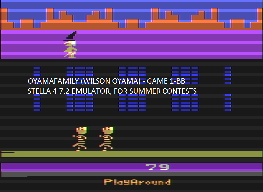 oyamafamily: Philly Flasher (Atari 2600 Emulated Novice/B Mode) 79 points on 2016-08-05 19:51:18