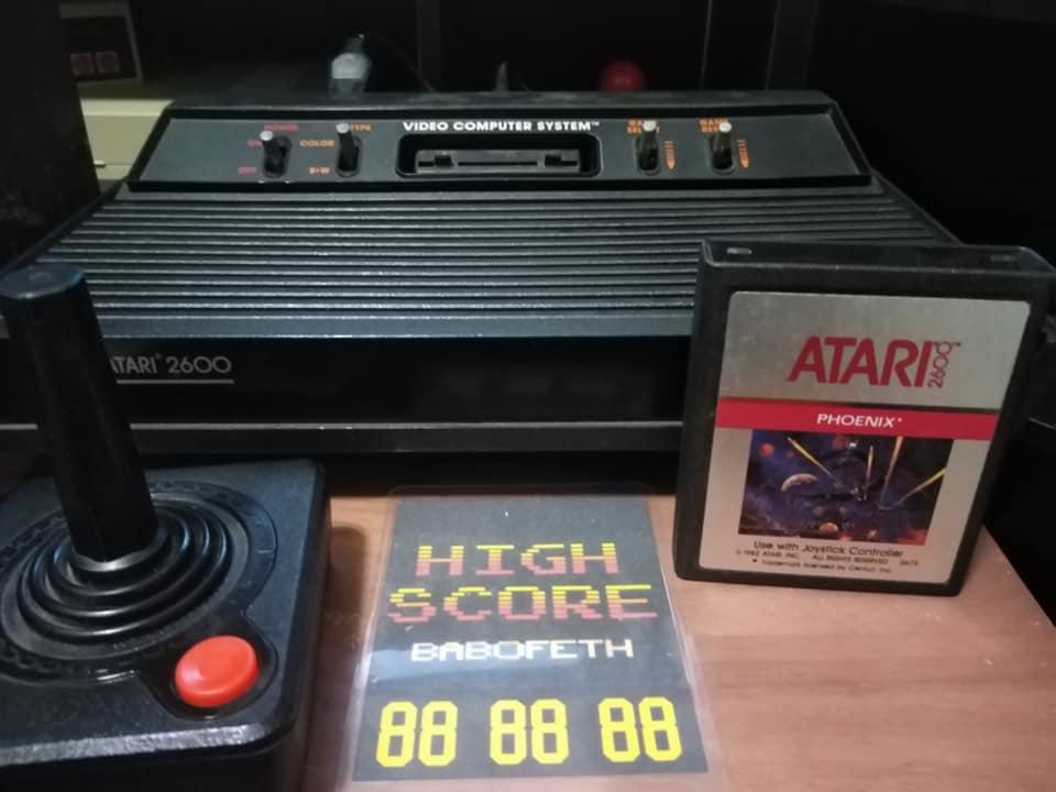 BabofetH: Phoenix (Atari 2600 Expert/A) 62,360 points on 2020-07-23 19:05:39