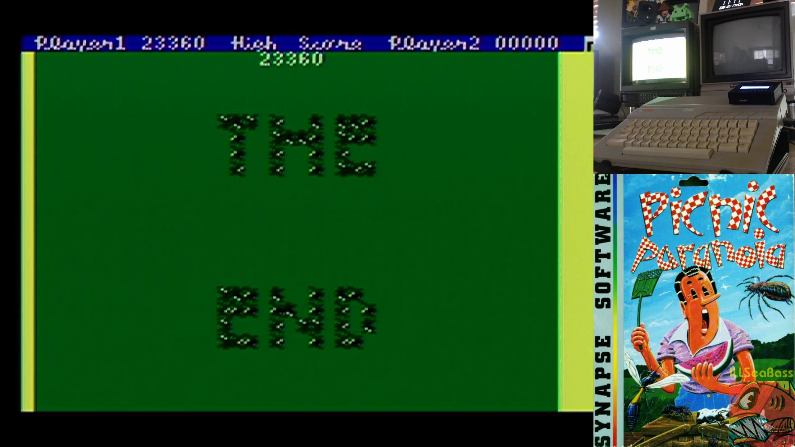 ILLSeaBass: Picnic Paranoia (Atari 400/800/XL/XE) 23,360 points on 2018-12-17 14:37:28
