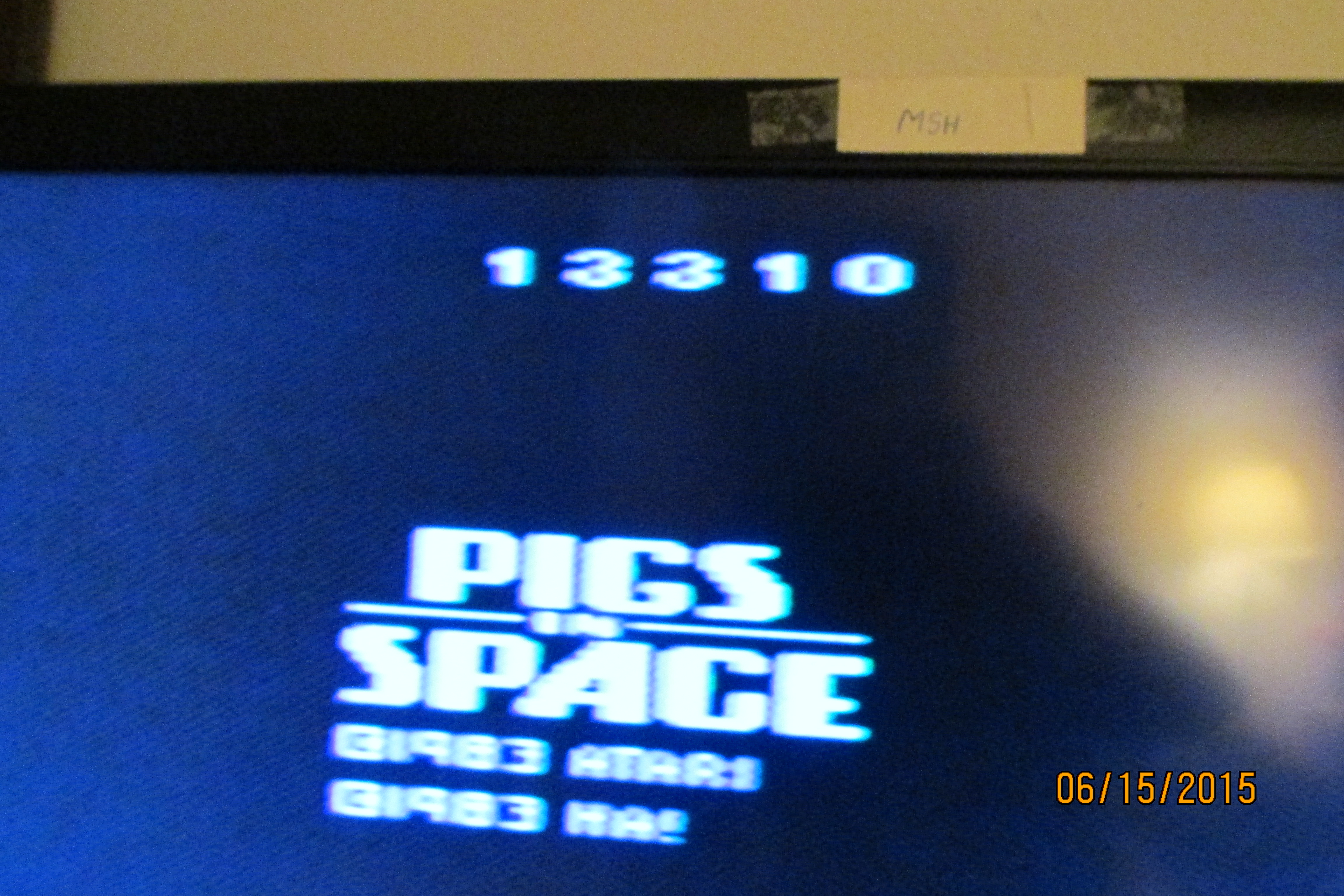 Mark: Pigs In Space (Atari 2600 Novice/B) 13,310 points on 2015-06-28 19:20:01