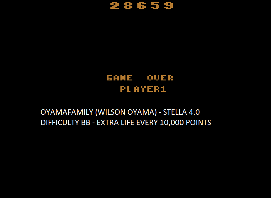 oyamafamily: Pigs In Space (Atari 2600 Emulated Novice/B Mode) 28,659 points on 2015-08-09 19:40:04