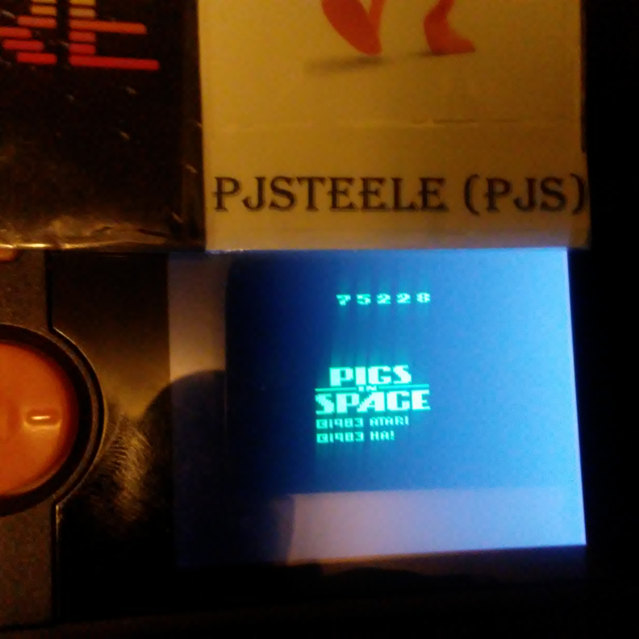Pjsteele: Pigs In Space (Atari 2600 Emulated Novice/B Mode) 75,228 points on 2018-01-15 08:42:29