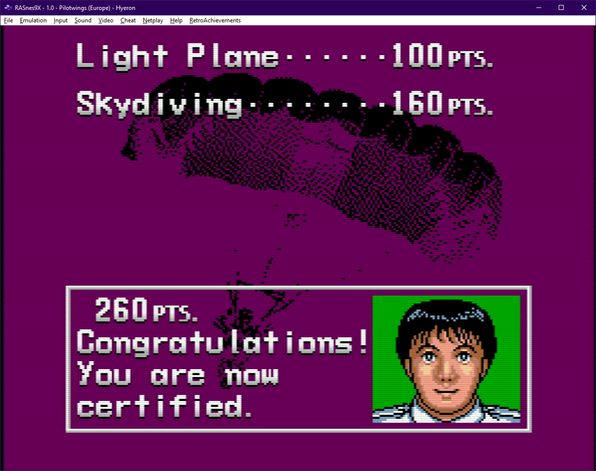 Pilotwings [Flight Area 1] 260 points