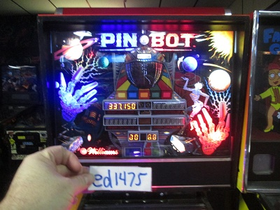 ed1475: Pin*Bot (Pinball: 3 Balls) 337,150 points on 2017-02-05 15:59:14