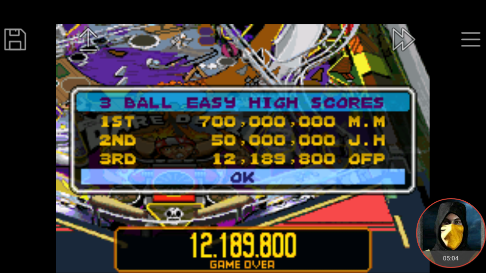 omargeddon: Pinball Advance: Dare Devil [3 Balls] [Easy] (GBA Emulated) 12,189,800 points on 2018-03-25 16:55:36