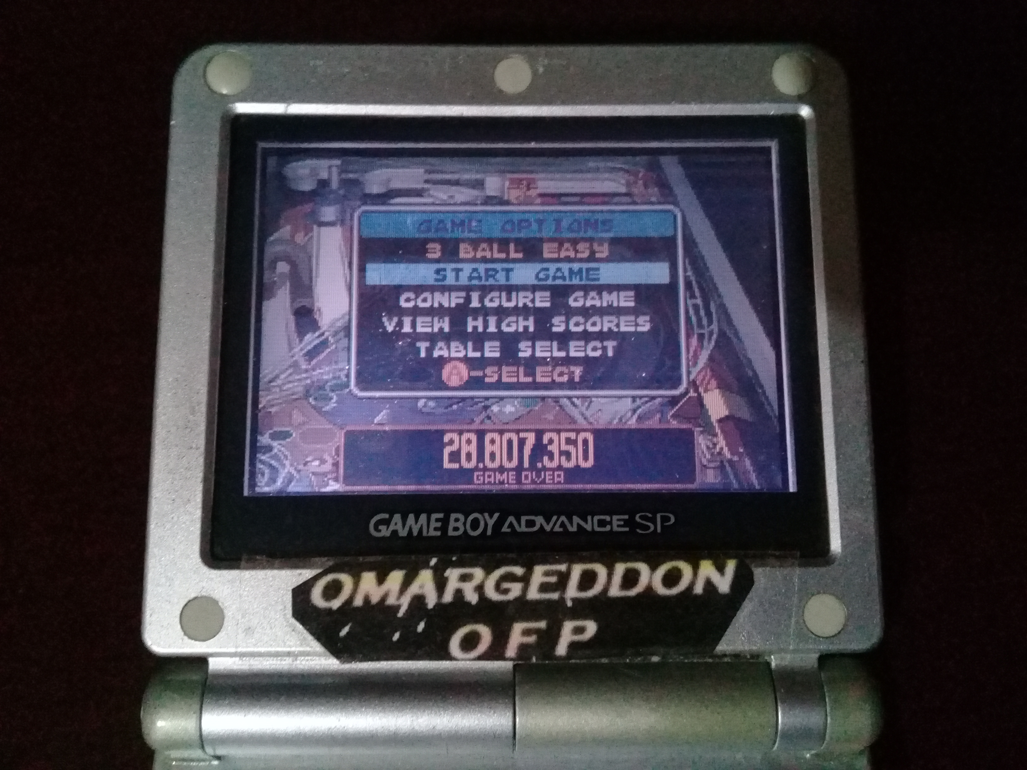 omargeddon: Pinball Advance: Dare Devil [3 Balls] [Easy] (GBA) 28,807,350 points on 2019-09-15 11:00:53