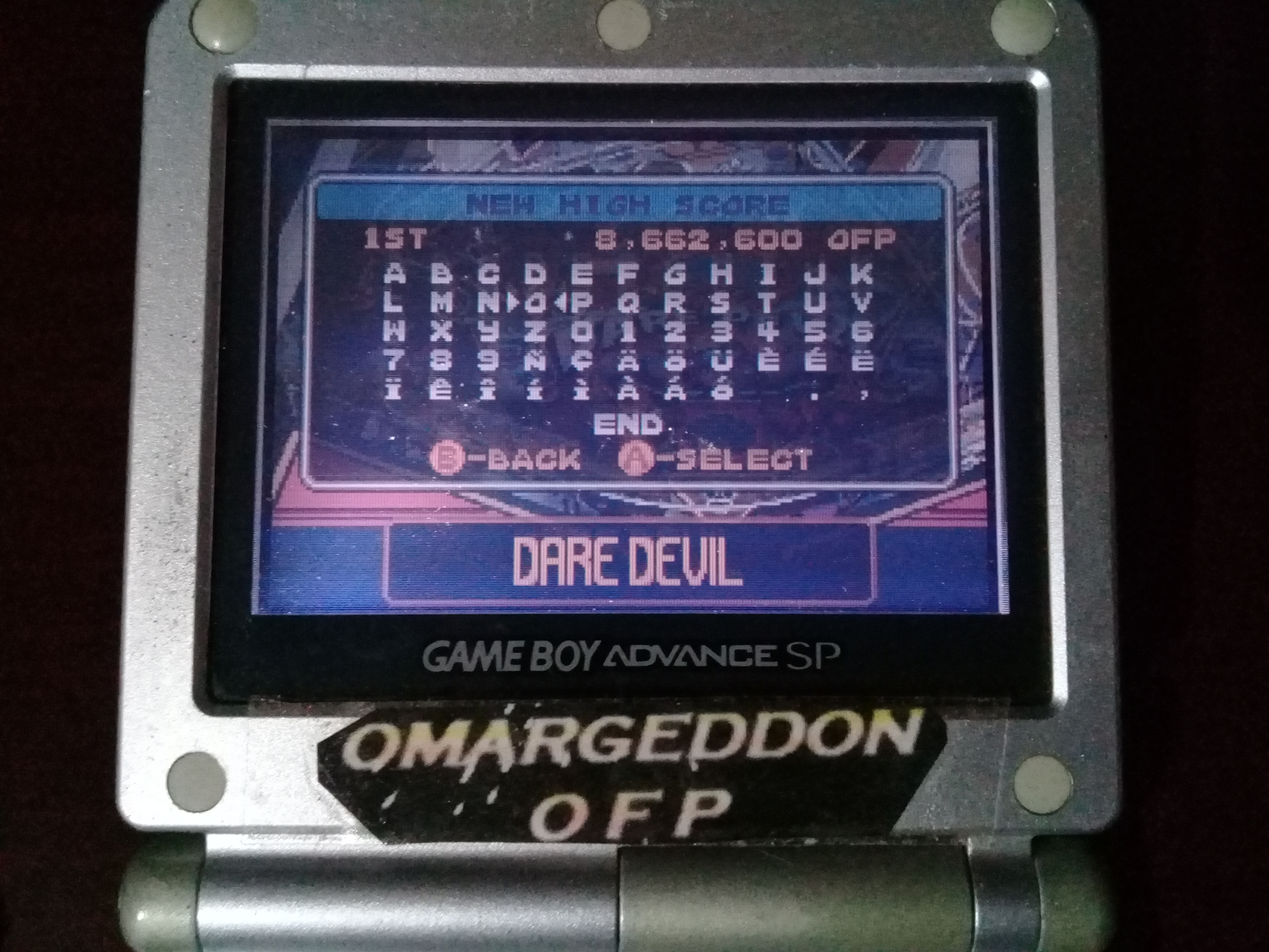 omargeddon: Pinball Advance: Dare Devil [3 Balls] [Medium] (GBA) 8,662,600 points on 2019-09-15 11:33:08