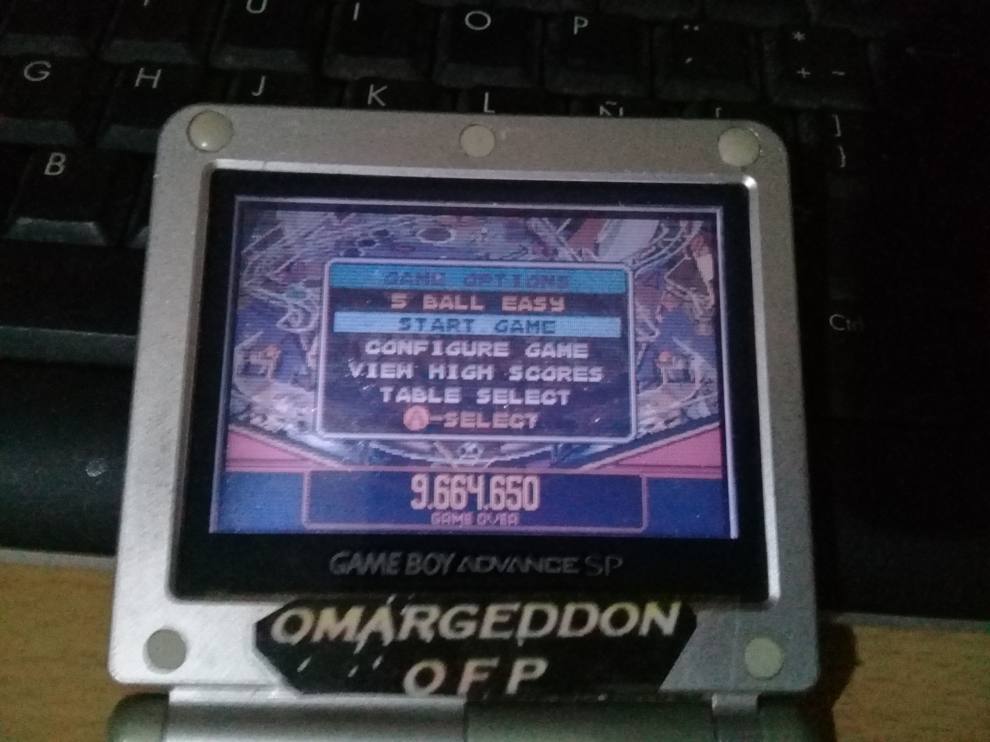 omargeddon: Pinball Advance: Dare Devil [5 Balls] [Easy] (GBA) 9,664,650 points on 2019-09-21 00:57:12