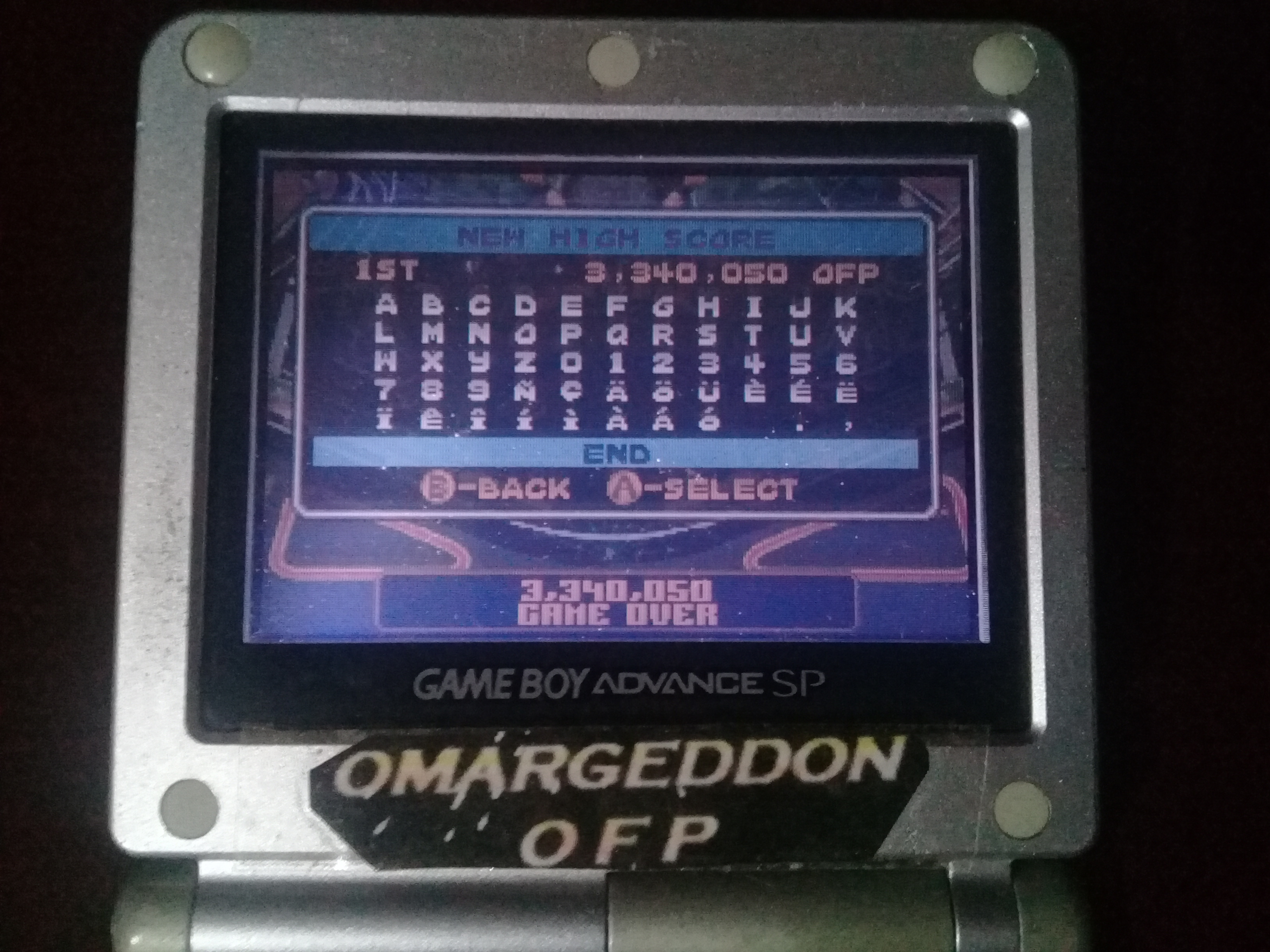 omargeddon: Pinball Advance: Tarantula [3 Balls] [Easy] (GBA) 3,340,050 points on 2019-10-20 01:08:22