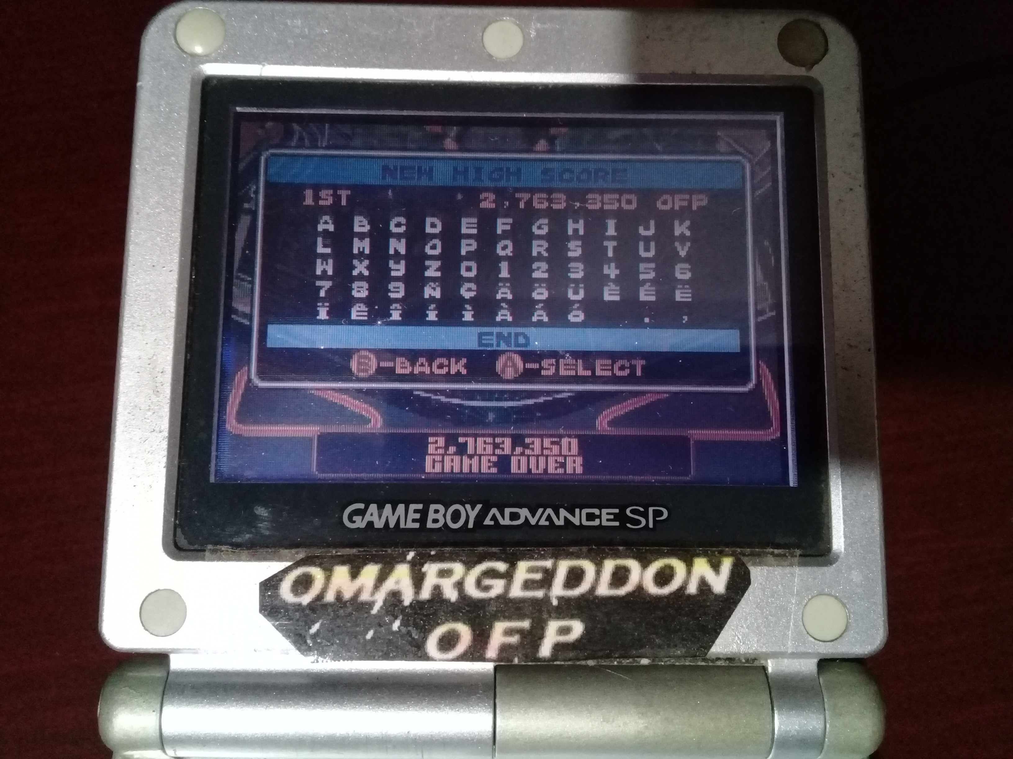 omargeddon: Pinball Advance: Tarantula [5 Balls] [Medium] (GBA) 2,763,350 points on 2019-11-02 01:38:18
