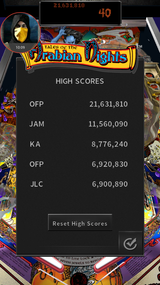 omargeddon: Pinball Arcade: Arabian Knights (Android) 21,631,810 points on 2018-05-14 23:46:15