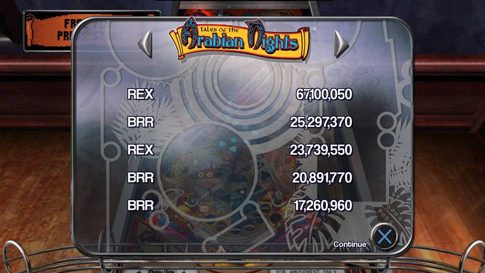 rexeus: Pinball Arcade: Arabian Knights (Playstation 4) 67,100,050 points on 2016-05-27 17:17:33