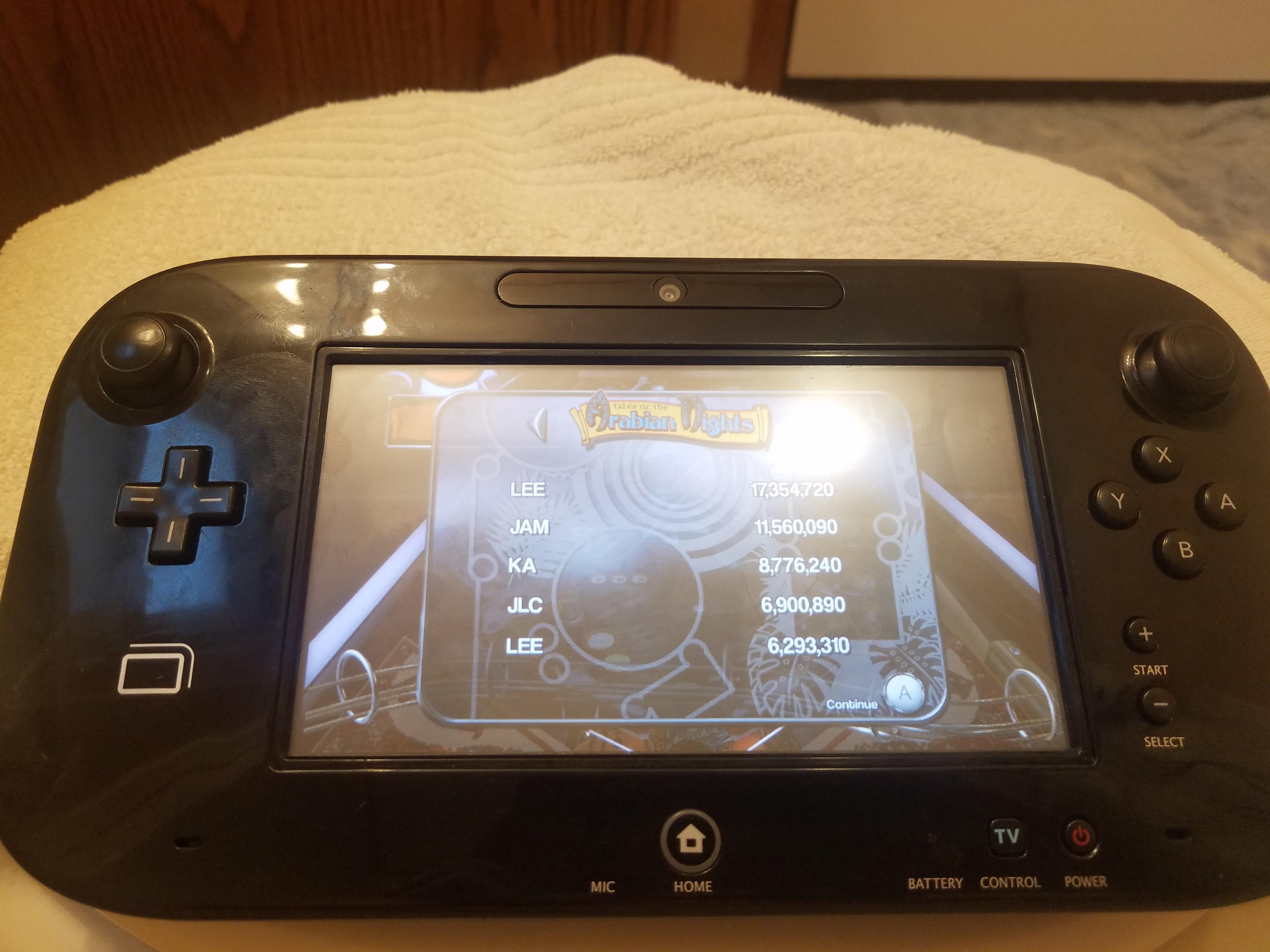 LeeJ07: Pinball Arcade: Arabian Knights (Wii U) 17,354,720 points on 2019-05-10 13:17:53