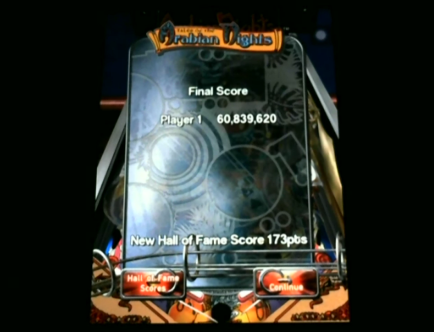 bensweeneyonbass: Pinball Arcade: Arabian Knights (iOS) 60,839,620 points on 2015-12-17 15:22:05