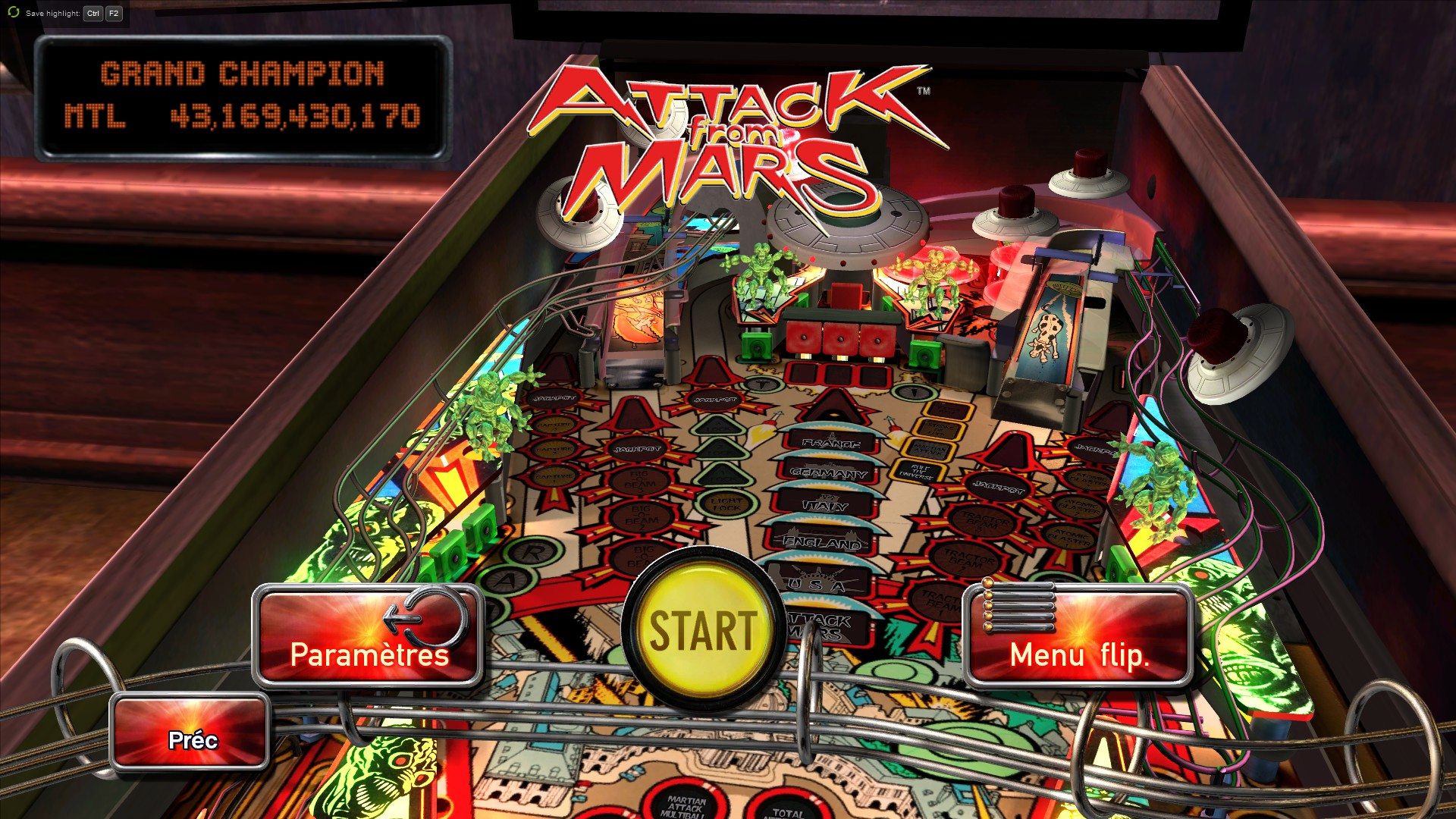 Mantalow: Pinball Arcade: Attack From Mars (PC) 43,169,430,170 points on 2015-08-27 10:50:39
