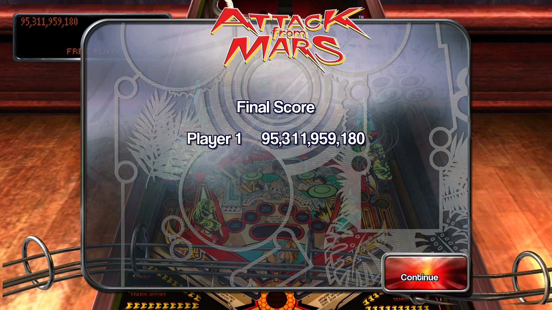 TheTrickster: Pinball Arcade: Attack From Mars (PC) 95,311,959,180 points on 2015-11-22 15:42:42