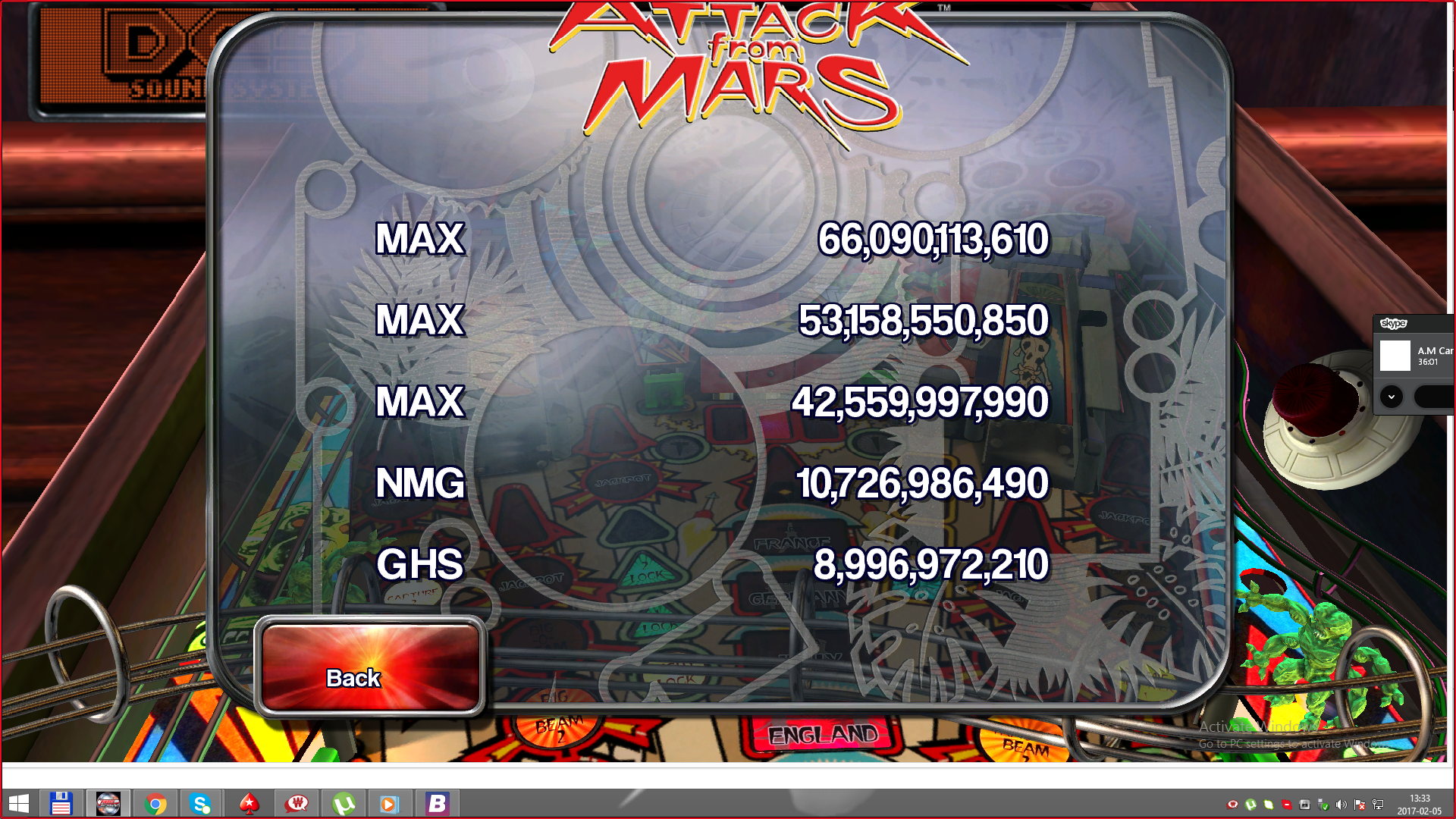 Pinball Arcade: Attack From Mars 66,090,113,610 points
