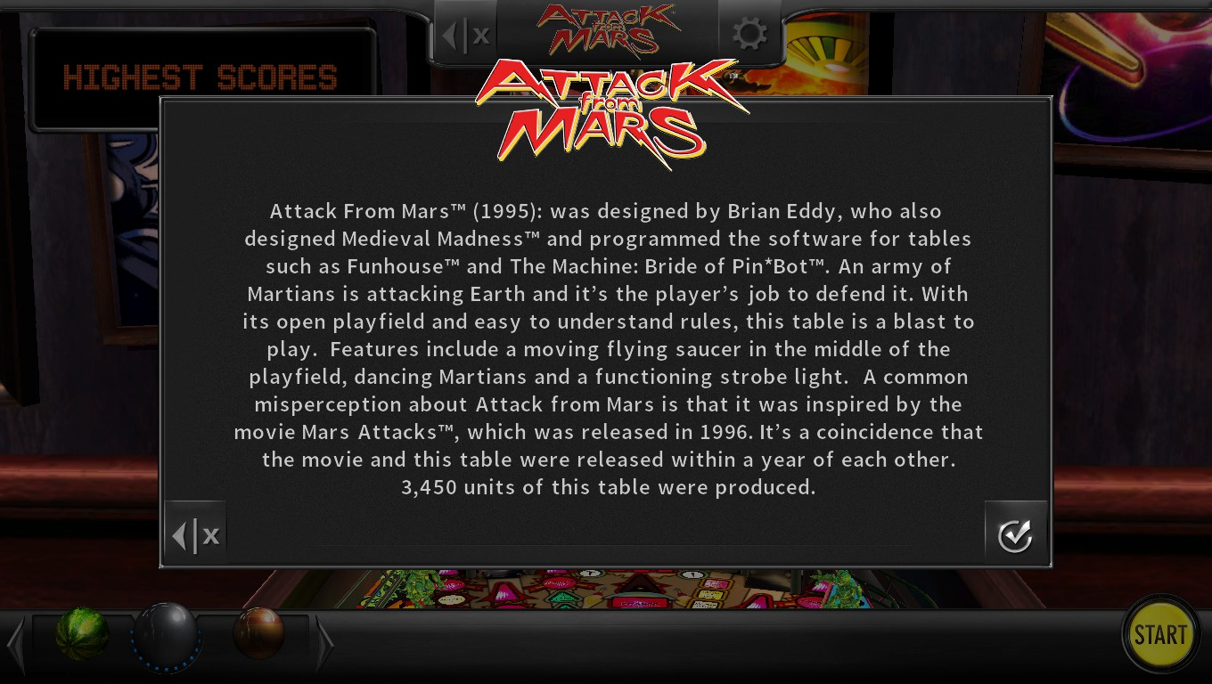 Mark: Pinball Arcade: Attack From Mars (PC) 18,776,772,240 points on 2018-05-05 18:27:47