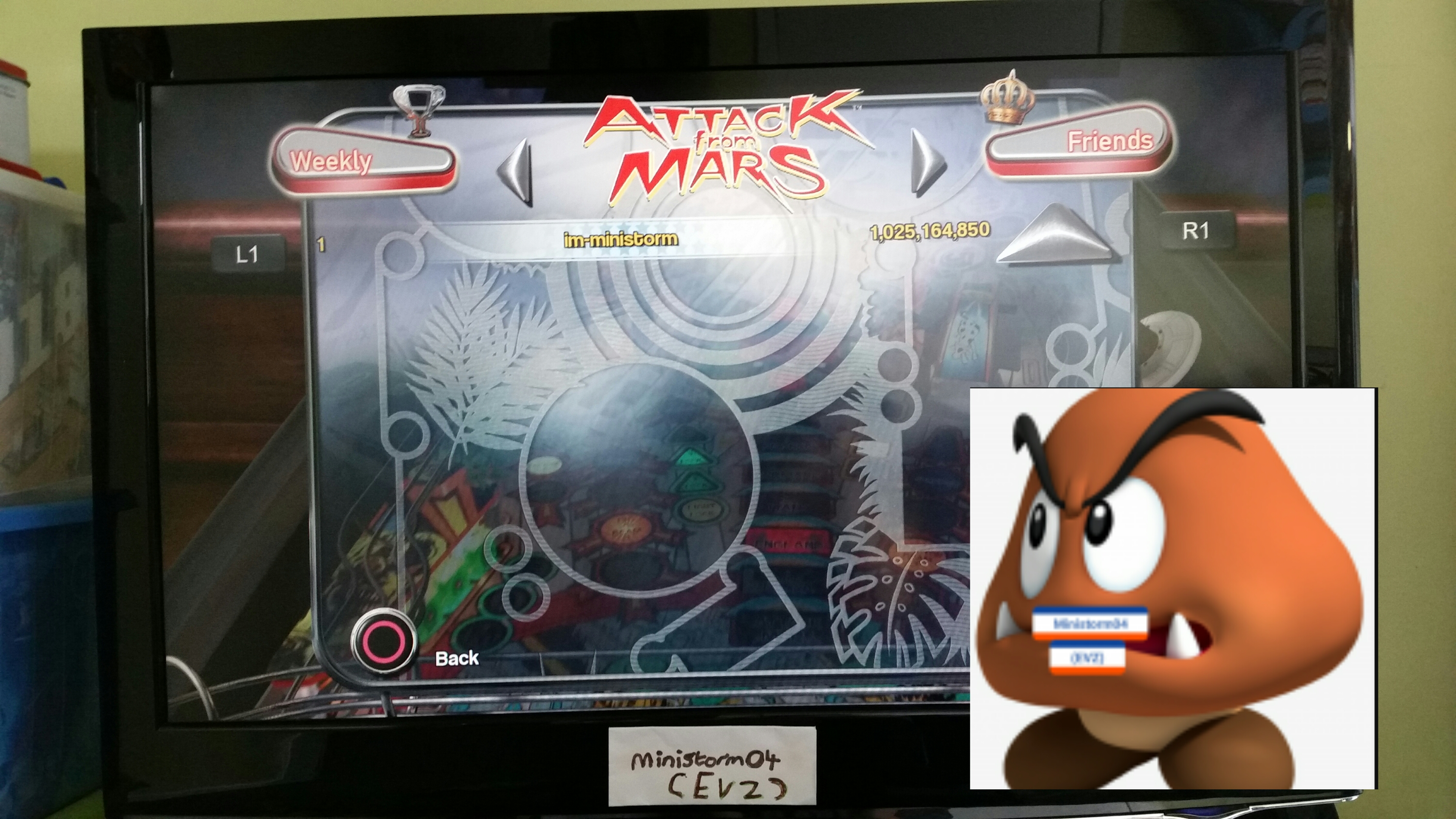 Pinball Arcade: Attack From Mars 1,025,164,850 points