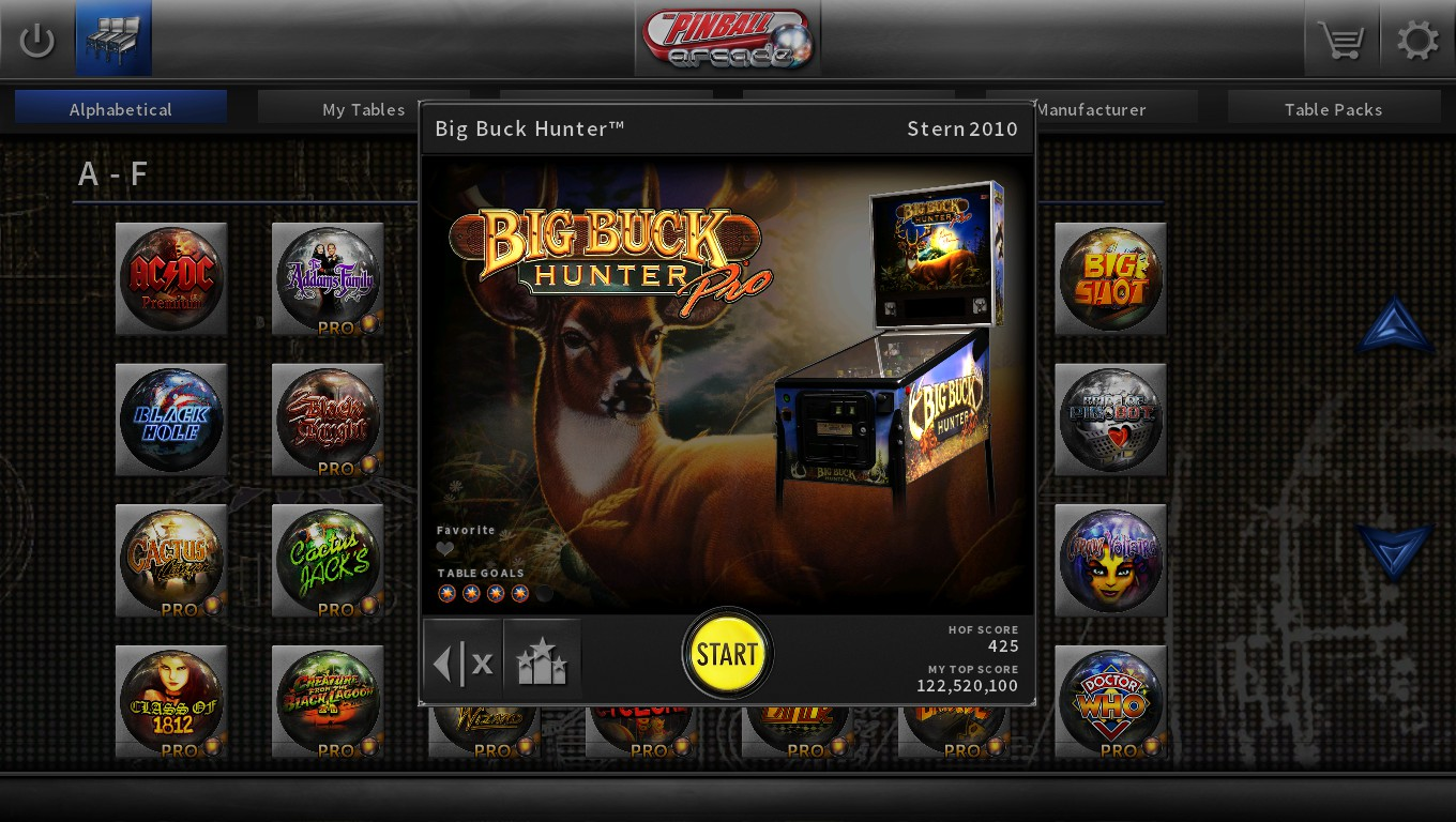 Mark: Pinball Arcade: Big Buck Hunter Pro (PC) 21,257,370 points on 2018-09-12 00:52:51