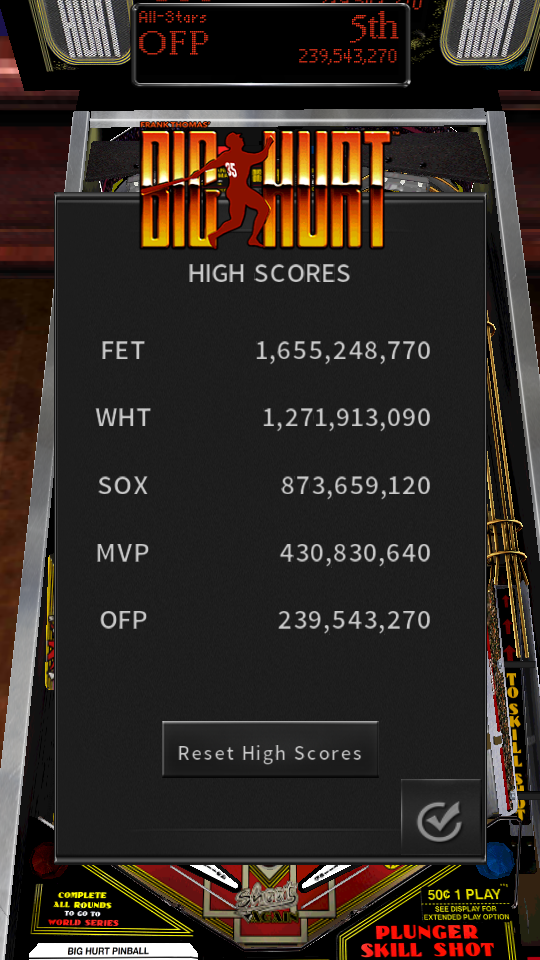 omargeddon: Pinball Arcade: Big Hurt (Android) 239,543,270 points on 2018-07-15 17:53:07
