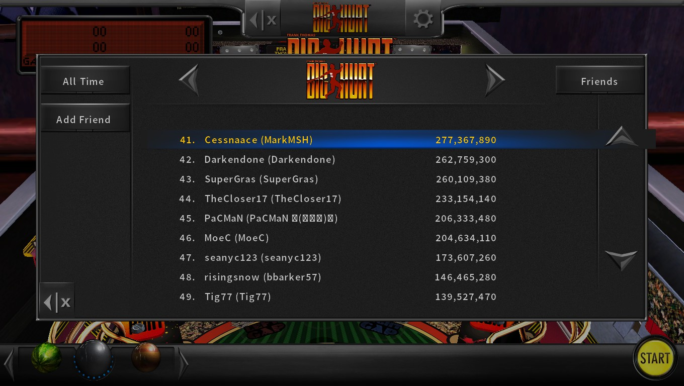 Mark: Pinball Arcade: Big Hurt (PC) 277,367,890 points on 2018-05-10 23:25:19