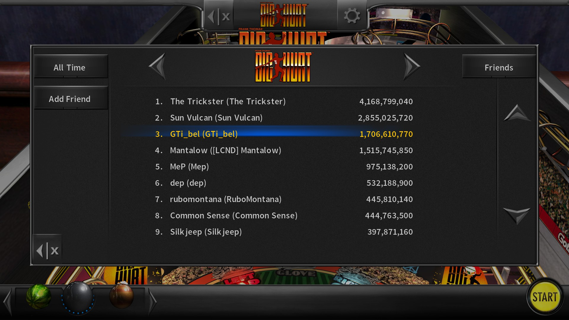 Pinball Arcade: Big Hurt 1,706,610,770 points