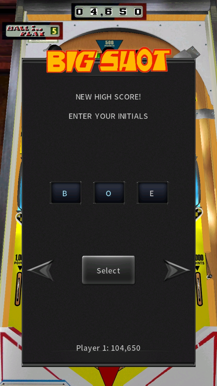 Pinball Arcade: Big Shot 104,650 points