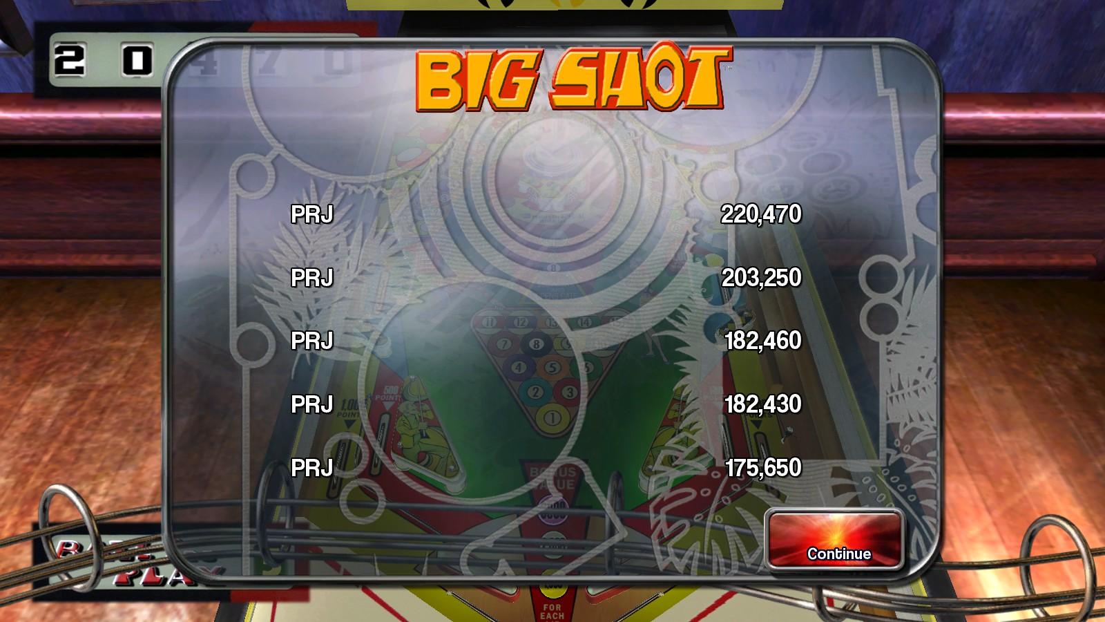 Deteacher: Pinball Arcade: Big Shot (PC) 220,470 points on 2015-08-30 19:29:21