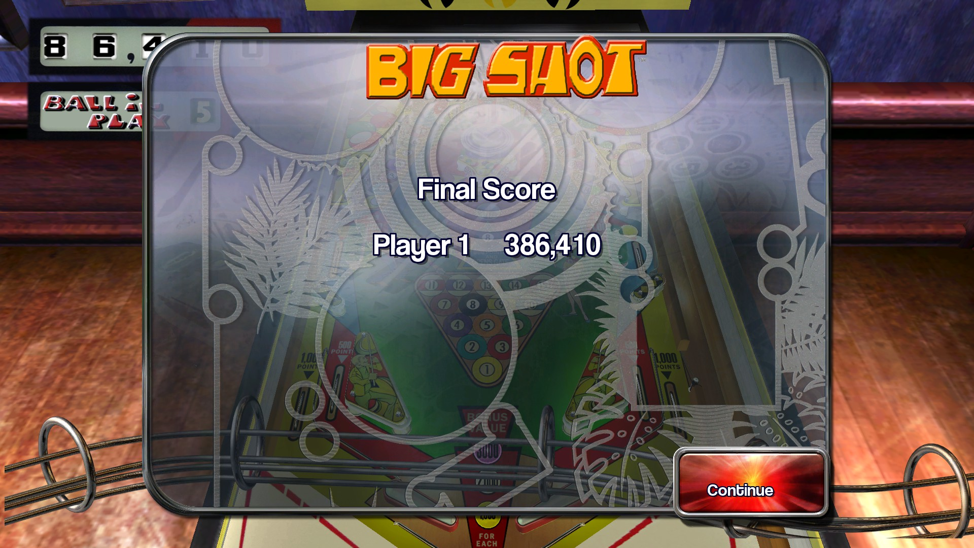 TheTrickster: Pinball Arcade: Big Shot (PC) 386,410 points on 2016-04-08 05:08:47
