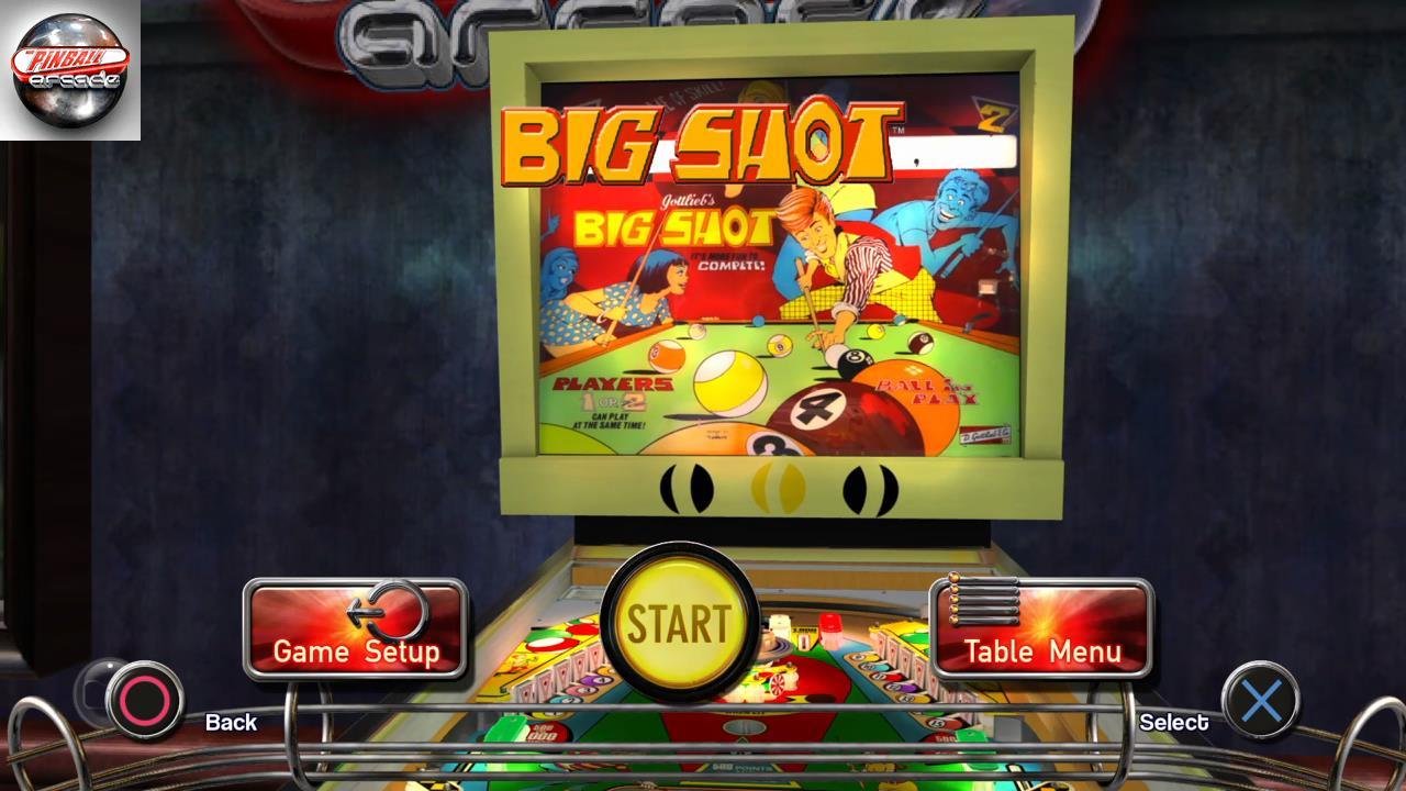 RetroRob: Pinball Arcade: Big Shot (Playstation 4) 115,080 points on 2019-11-19 14:20:04