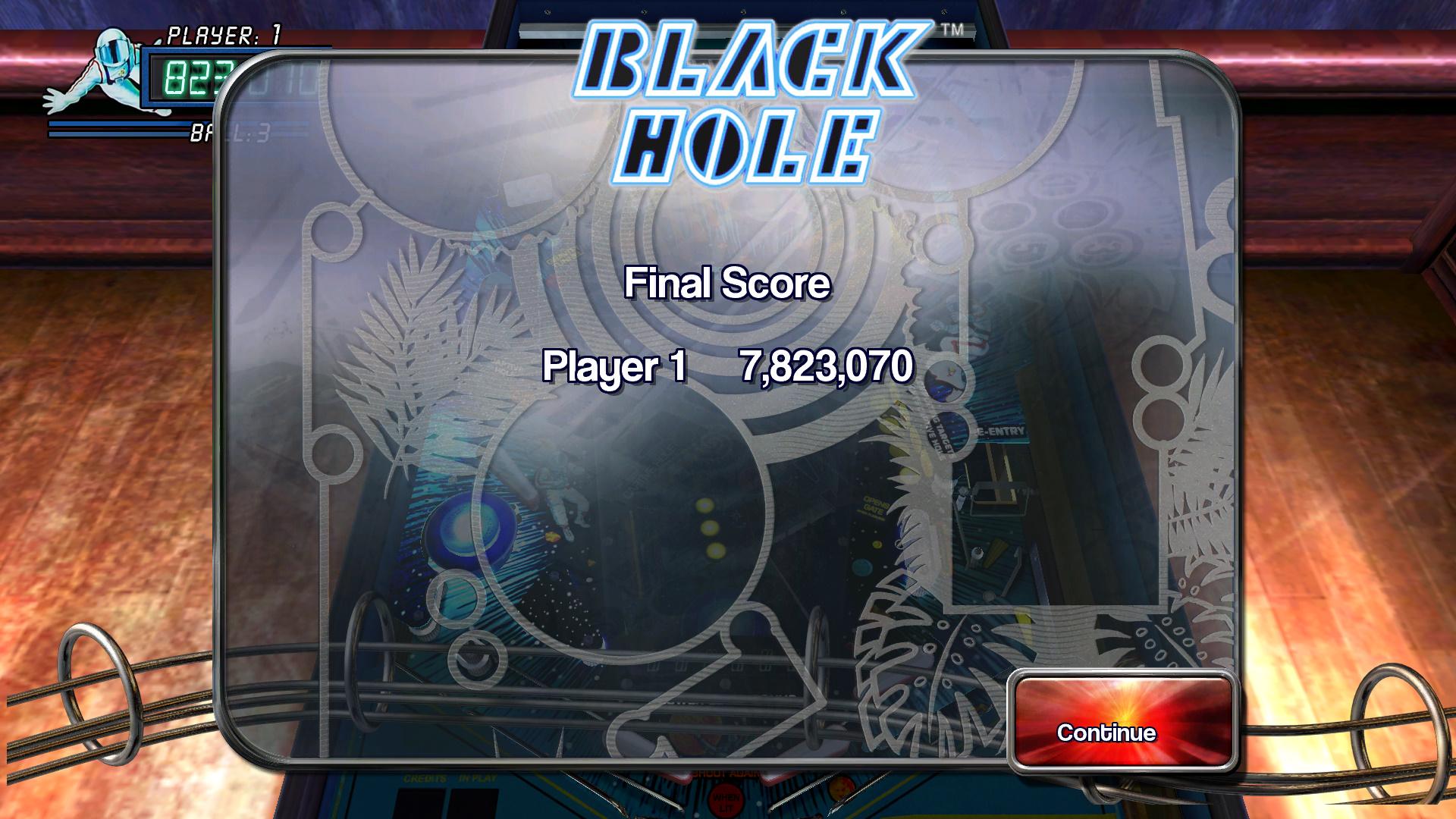 Pinball Arcade: Black Hole 7,823,070 points