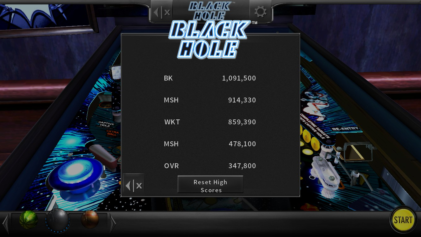 Mark: Pinball Arcade: Black Hole (PC) 914,330 points on 2018-05-06 23:49:20
