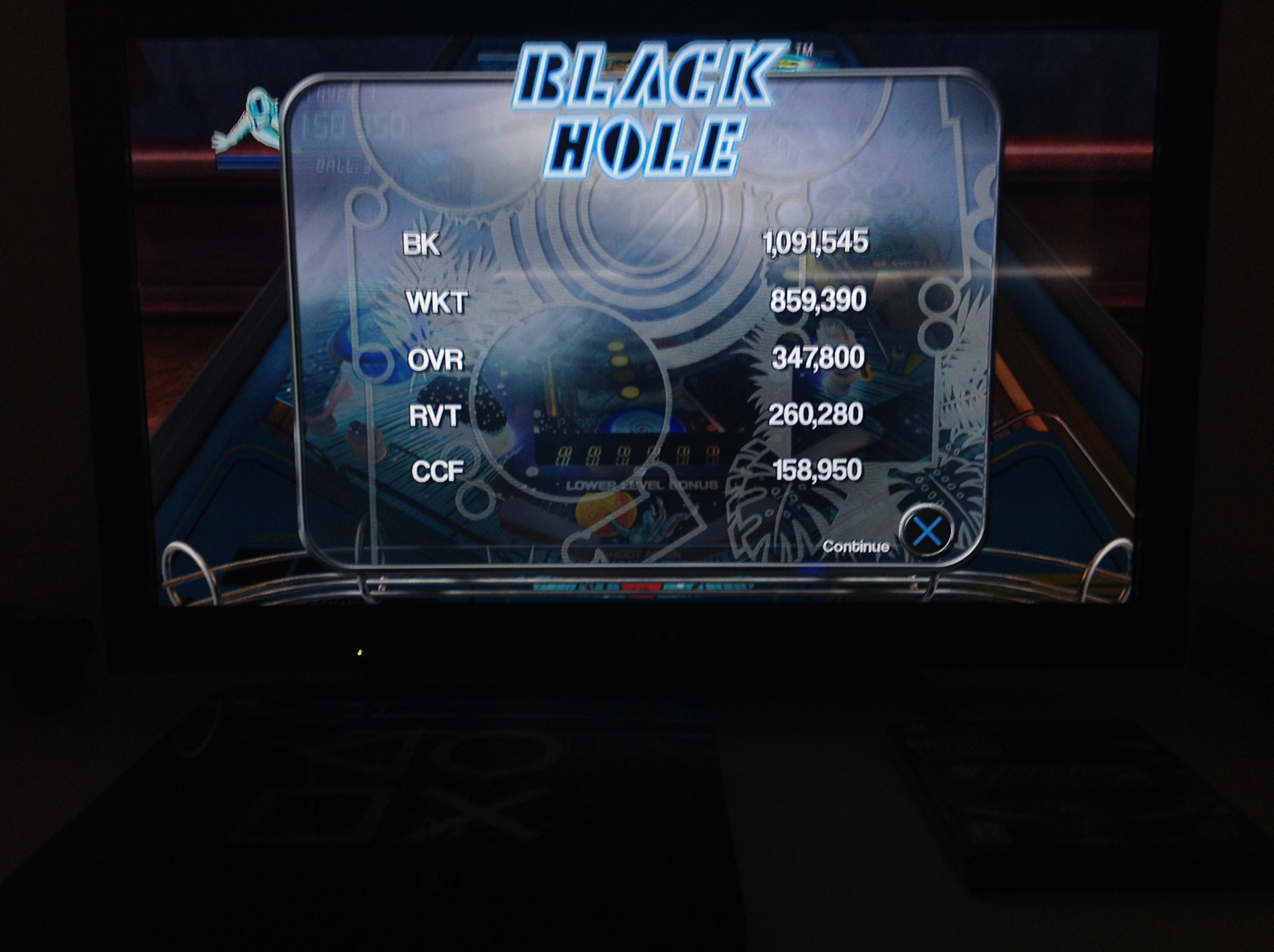 CoCoForest: Pinball Arcade: Black Hole (Playstation 4) 158,950 points on 2018-07-05 13:42:53
