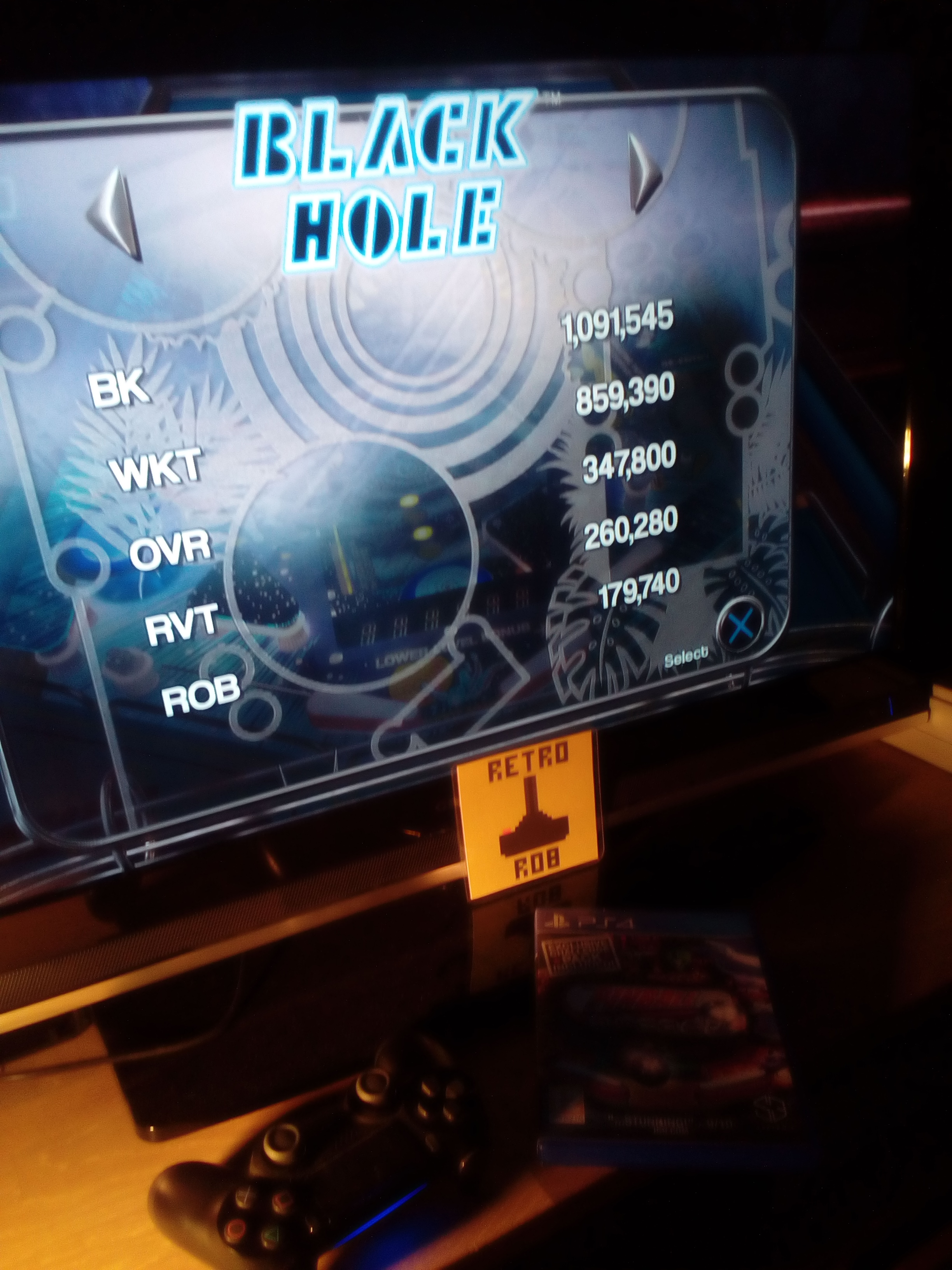 RetroRob: Pinball Arcade: Black Hole (Playstation 4) 179,740 points on 2019-08-07 13:57:39
