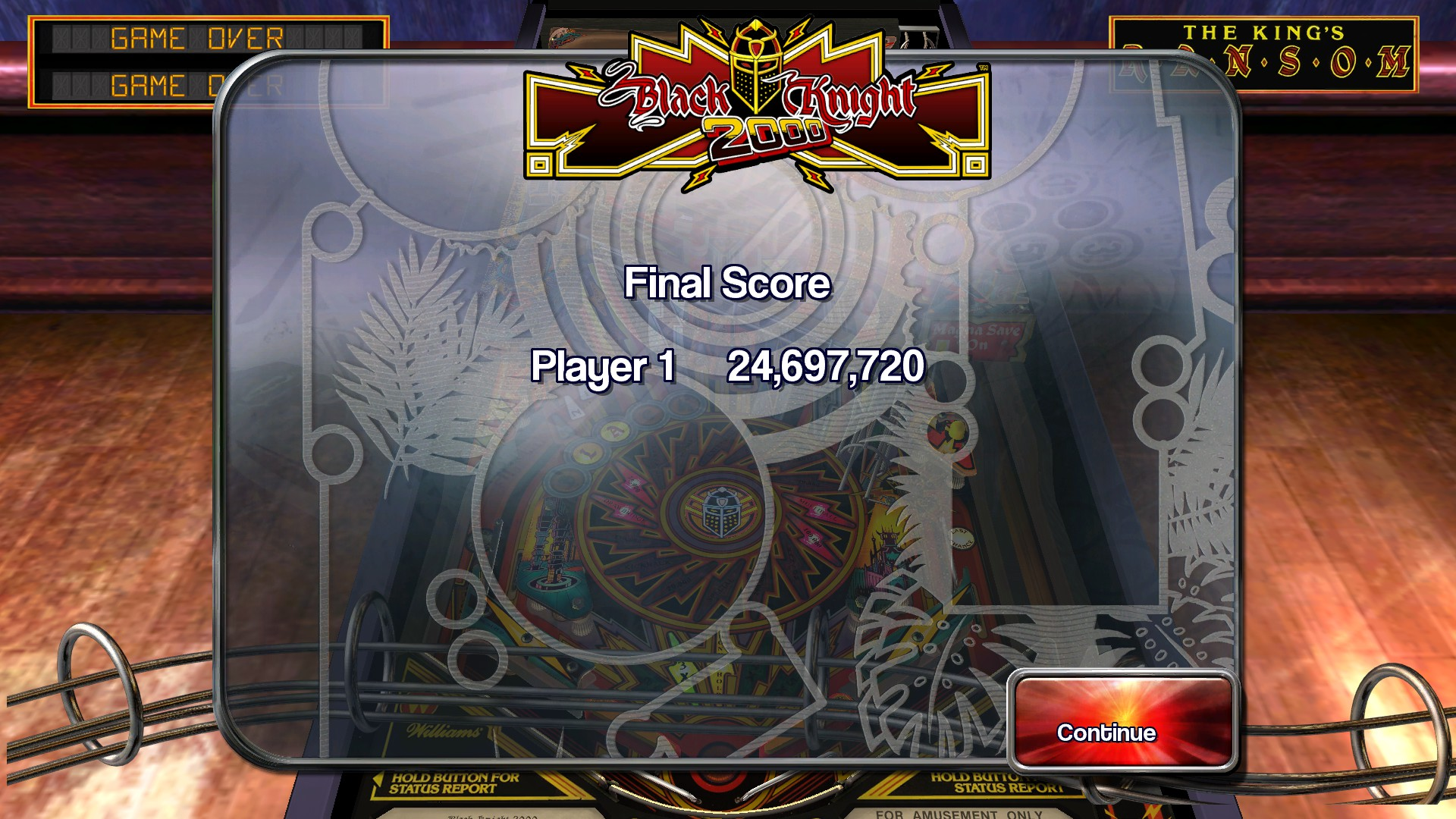 TheTrickster: Pinball Arcade: Black Knight 2000 (PC) 24,697,720 points on 2016-03-04 16:04:46