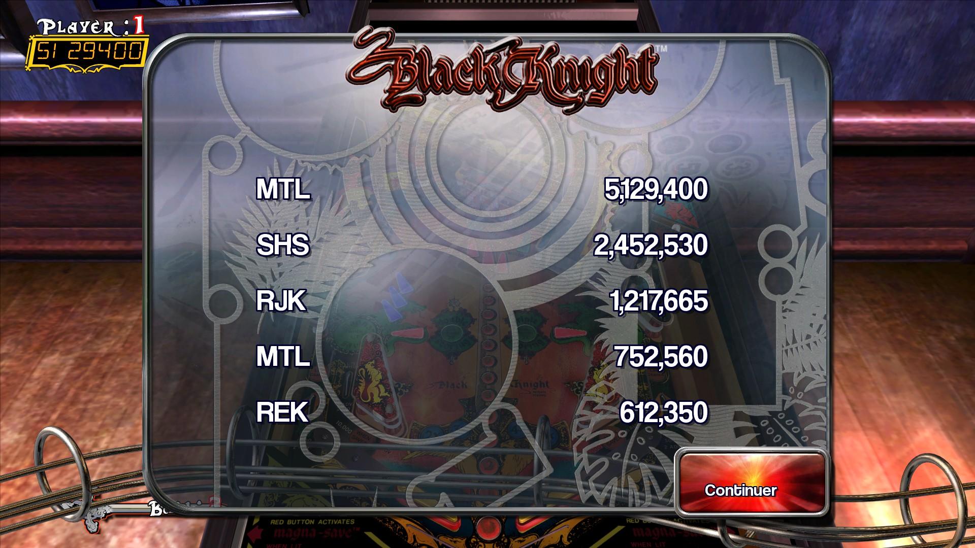 Mantalow: Pinball Arcade: Black Knight (PC) 5,129,400 points on 2016-02-24 08:04:58
