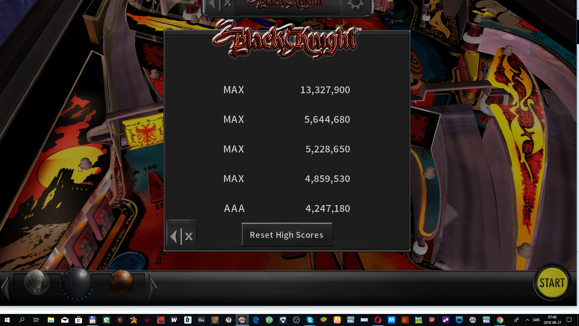 maxgreat: Pinball Arcade: Black Knight (PC) 13,327,900 points on 2018-06-27 00:41:12