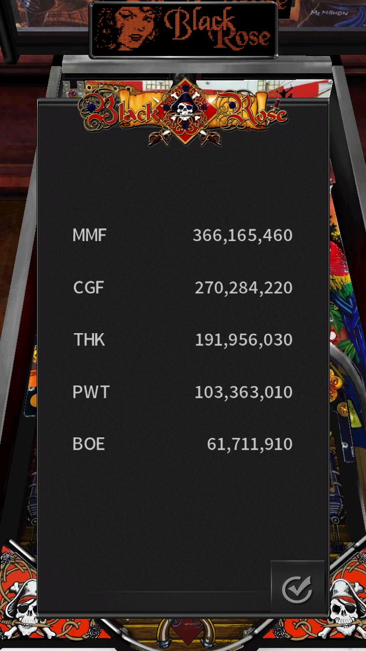 Boegas: Pinball Arcade: Black Rose (Android) 61,711,910 points on 2019-01-02 10:17:58