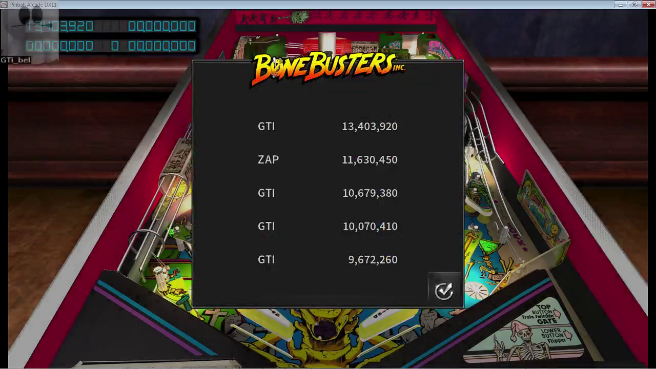 GTibel: Pinball Arcade: Bone Busters (PC) 13,403,920 points on 2017-03-13 06:16:51