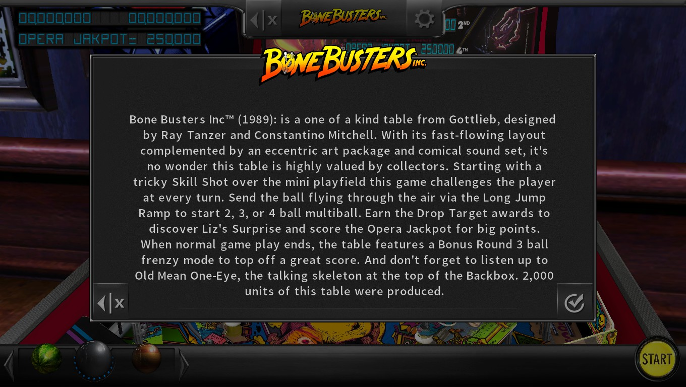 Mark: Pinball Arcade: Bone Busters (PC) 4,182,930 points on 2018-05-05 19:19:11