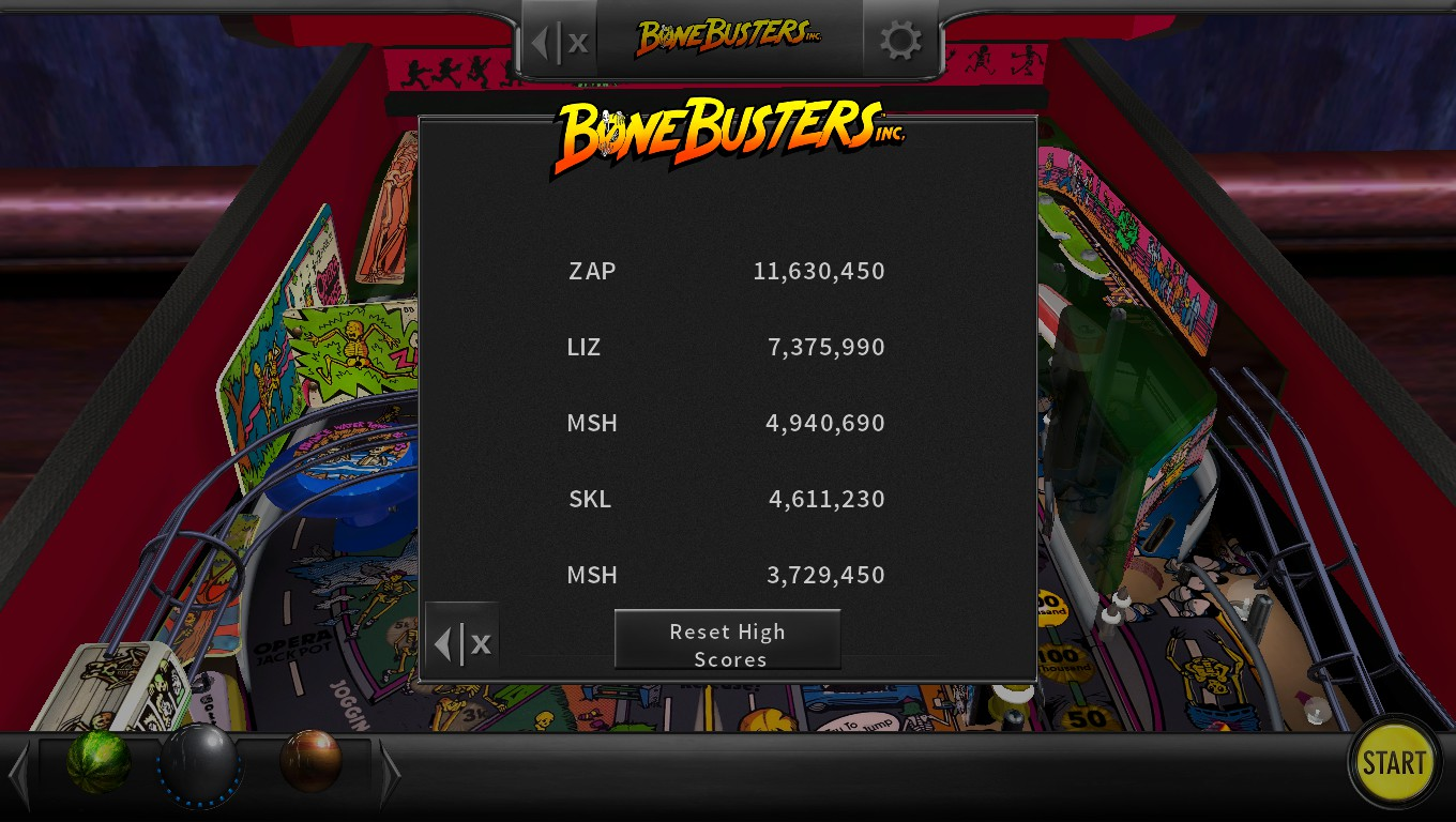 Mark: Pinball Arcade: Bone Busters (PC) 4,940,690 points on 2018-07-18 02:37:25