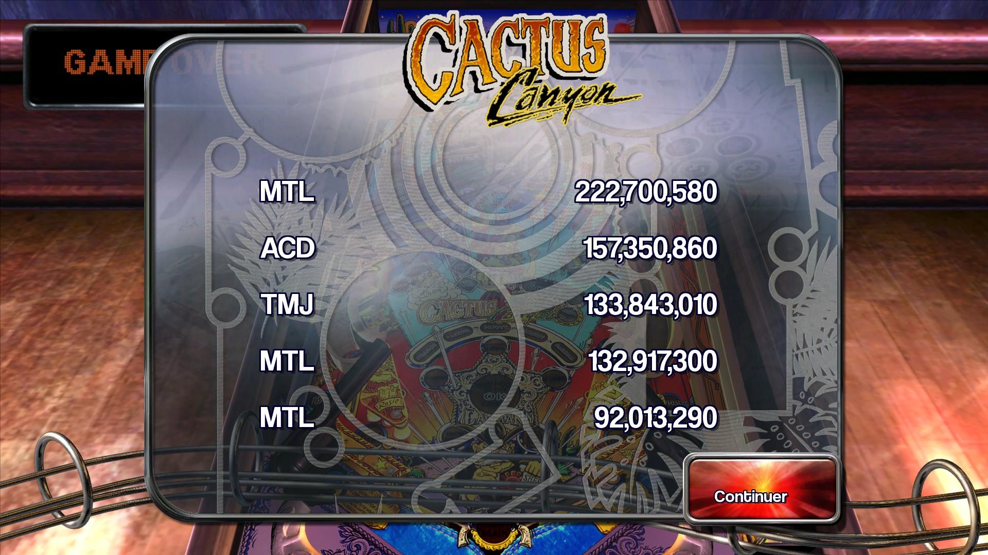 Mantalow: Pinball Arcade: Cactus Canyon (PC) 222,700,580 points on 2015-06-29 17:12:48