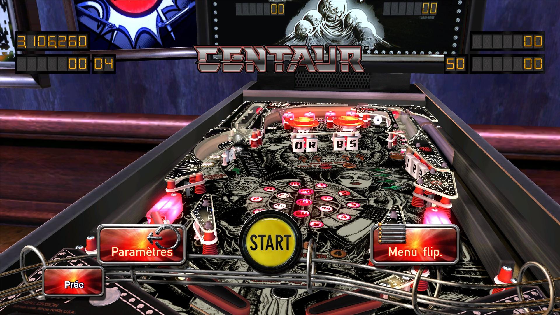 Mantalow: Pinball Arcade: Centaur (PC) 3,106,260 points on 2016-02-25 10:23:16